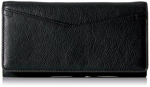 Fossil Caroline Continental Flap Wallet Black Wallet by Fossil