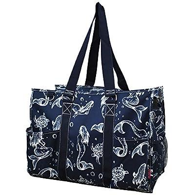 e8d3ae984b0d low-cost Mermaid Print NGIL Large Zippered Caddy Organizer Tote Bag ...