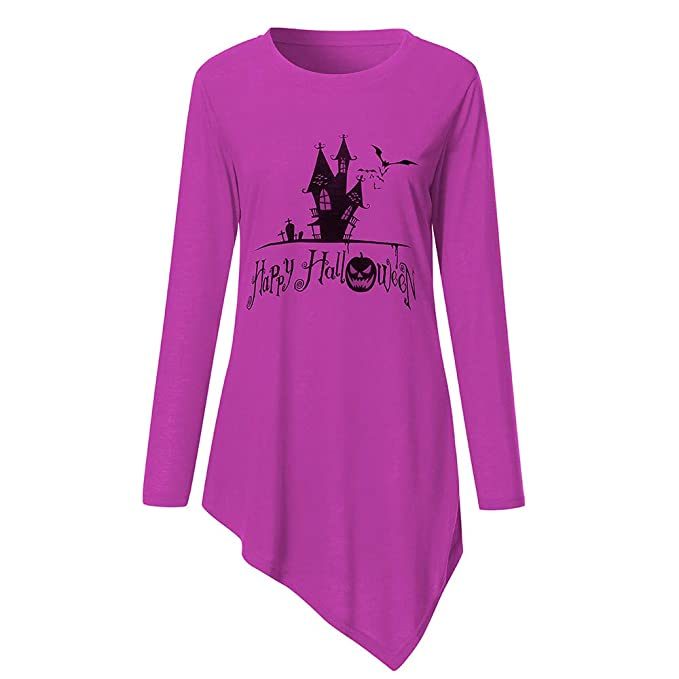❤ Camisa Larga de Mujer Halloween, sólido Moda Manga Larga Camiseta de impresión de Halloween Camiseta Top Blusa Absolute: Amazon.es: Ropa y accesorios