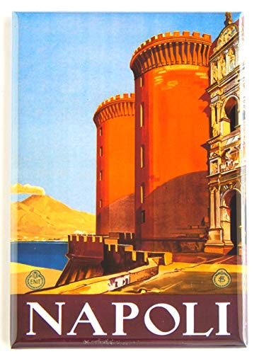 Naples Italy Travel Poster Fridge Magnet (2 x 3 inches)