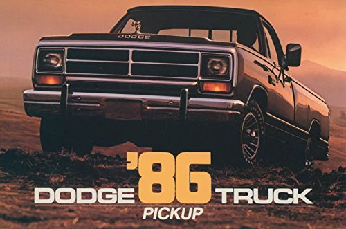 1986 Dodge Pickup Truck ORIGINAL Factory Postcard