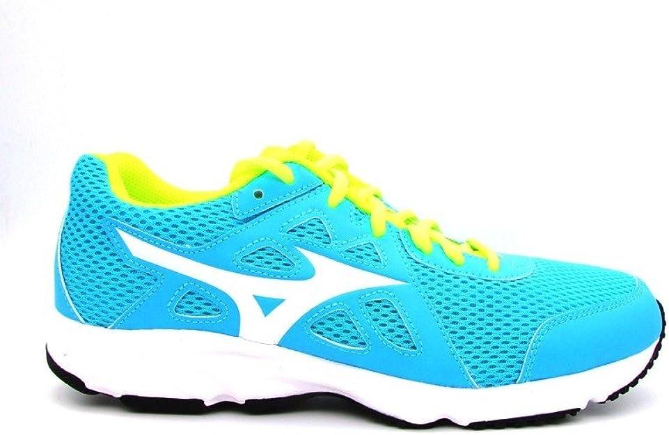 Mizuno - Zapatillas Running Spark 2 para mujer, color azul y amarillo, 38.5: Amazon.es: Zapatos y complementos