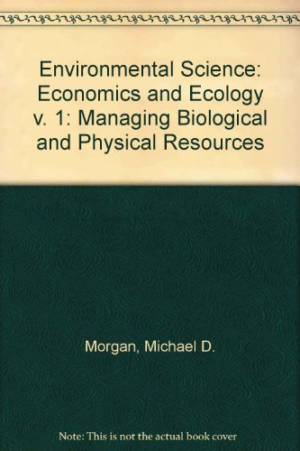 Download Environmental Science: Economics and Ecology (v  1