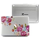 """Macbook Pro Retina 13 Inch Case, Plastic Hard Shell Snap On Case Cover for Macbook 13"""" Pro Retina Display (A1502 & A1425) (Flowers)"""