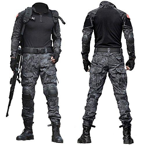Da Men's Army Combattimento Tactical 3 Qmfive Paintball Bdu Per Softair Shooting Airsoft Camo Pantaloni Combat Tattici Typ Militari Military wPPvqXO6x