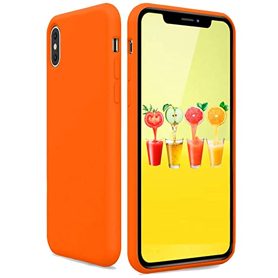 official photos 6d4b0 bd14c Silicone Case for iPhone Xs iPhone X, Candy Color Soft Silicone Slim Rubber  Protective Phone Case Cover Compatible with iPhone X iPhone Xs 5.8