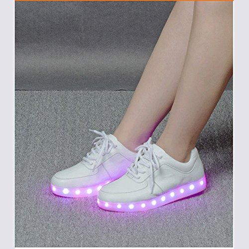 Acever Led Fashion Sneakers Met Veranderende Lichten Rave Party Prom Party Cadeau Speelgoed (us Maat 7 Voor Mannen)
