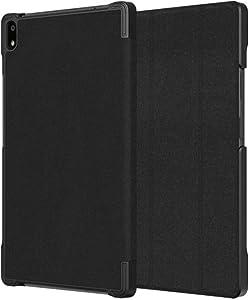 Rome Tech Folio Case for Lenovo Tab 4 8 Plus ZA2B0009US - TB-8704X TB-8704N TB-8704V TB-8704F - Slim Book Cover with Smart Folding Stand for Tab 4 8 Plus - Black