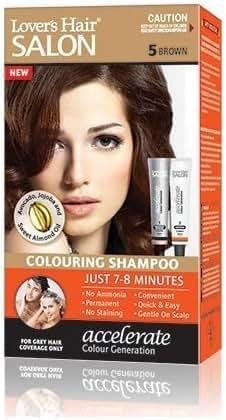 Lover's Hair Salon Colouring Shampoo - #5 Brown