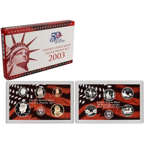 2003 S US Mint Silver Proof Set OGP