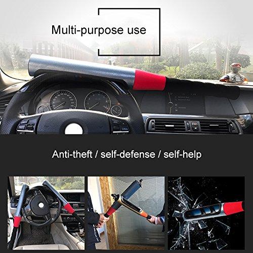 JXHD Car steering wheel lock Car truck universal Car adjustable baseball type anti-theft lock Self-defense manual tool Multi-color optional by JXHD (Image #8)