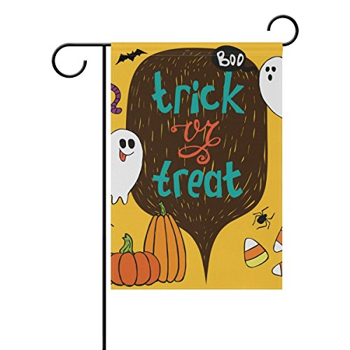 senya Trick Treat Halloween Fabric Garden Flags Banner for I