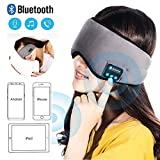 Bluetooth Sleeping Eye Mask Headphones,Travel Sleeping Headphone Bluetooth Eye Mask Handsfree Music Sleep Eye Shades Headset Built-in Speakers Microphone Washable for Air Travel, Relaxation, Insomnia