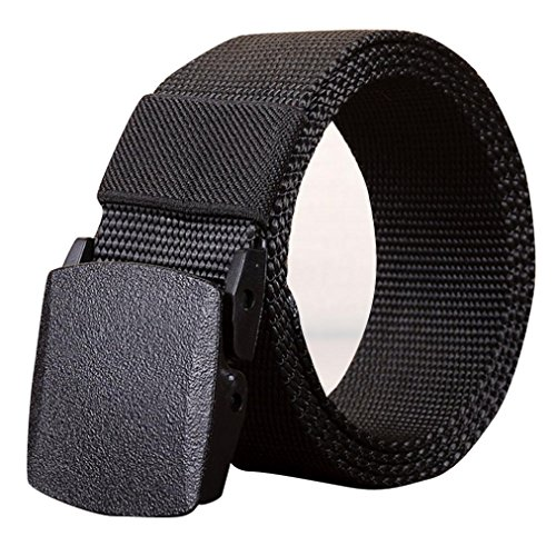 Mens Belt! Charberry Canvas Belt Outdoor Sports Nylon Waistband Canvas Web Belt Dazzling (110, Black) from Charberry