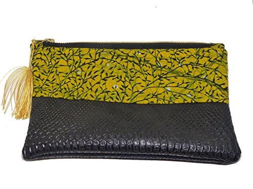 geometrique Pochette femme Fleur Africain Wax Imprimé Motif a main Tissu sac pvPqBHp