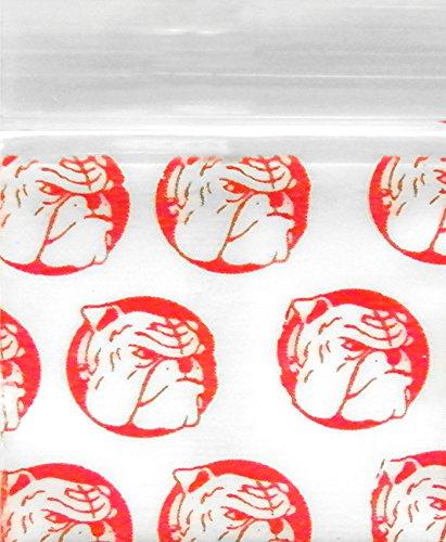 125125 Original Mini Ziplock 2.5mil Plastic Bags 1.25 x 1.25 Reclosable Baggies The Baggie Store Red Dog