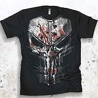 Punisher Men's Bloody New Skull Graphic T-shirt Season 2 Daredevil Tee Netflix Marvel Shirt