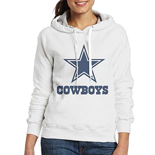 UFBDJF20 Dallas Blue Star Hooded Sweatshirt For Women XXL White (Dallas Cowboys Shorts)