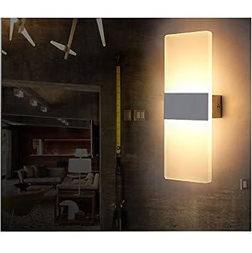 6W LED Wandleuchten Innen Aus Kreative Minimalistische Für Wohnzimmer  Schlafzimmer Arbeitszimmer Hotel Flur LED Acrylwandlampe
