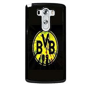 Delicate Yellow Logo Borussia Dortmund FC Phone Case Cover for LG G3 FC Borussia Dortmund Unique Style