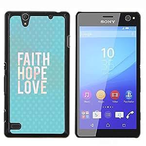 Stuss Case / Funda Carcasa protectora - Feliz Ama a Dios texto azul - Sony Xperia C4