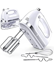 LILPARTNER Hand Mixer Electric, 400w Ultra Power Kitchen Handheld Mixer with 2x5 Speed(Turbo Boost & Automatic Speed), Storage Case, 5 Stainless Steel Accessories for Easy Whipping, Baking, Cake