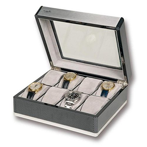 Rapport London F3 Carbon Fiber Collector 8 Watch Box w/ Glass Lid by Allurez
