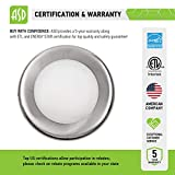 ASD 6 Pack 4 Inch LED Disk Light, Dimmable Low