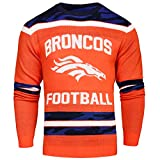 FOCO Denver Broncos Ugly Glow In The Dark Sweater - Mens Extra Large