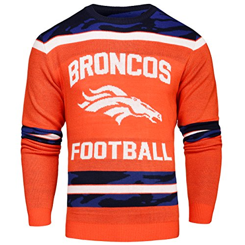 FOCO Denver Broncos Ugly Glow In The Dark Sweater - Mens Extra Large by FOCO