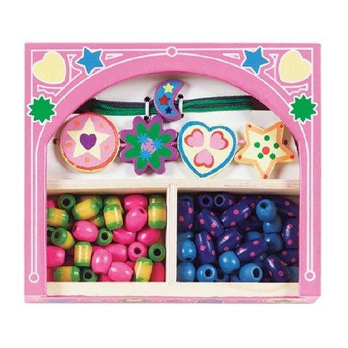 Melissa & Doug Mini Bead Set Pink by Melissa & Doug