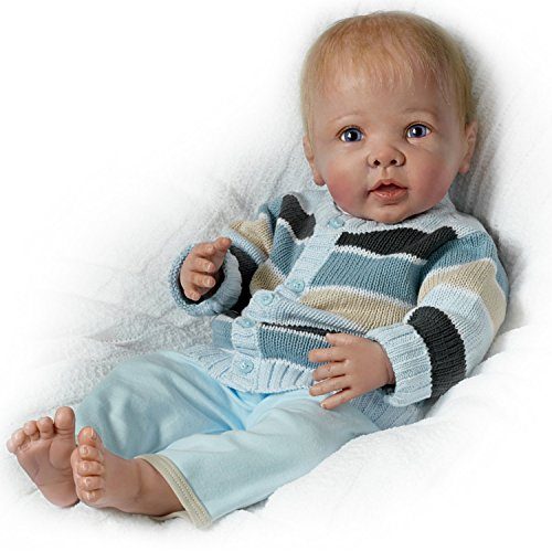 Noah's Happy As Can Be: Moves His Head and Feet and Coos When Touched - So Truly Real® Lifelike, Interactive & Realistic Baby Boy Doll 22-inches  by The Ashton-Drake Galleries by The Ashton-Drake Galleries