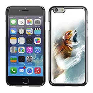 Be Good Phone Accessory // Dura Cáscara cubierta Protectora Caso Carcasa Funda de Protección para Apple Iphone 6 // Fox Roar
