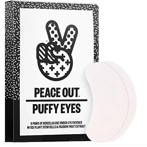 Peace Out Puffy Under-Eye Patches - 6 Pair Of Biocellulose Patches - W/Ice Plant Stem Cells & Passion Fruit Extract