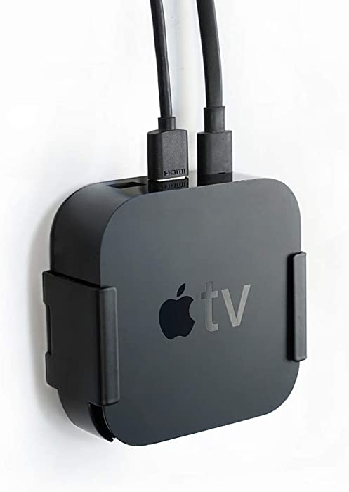Cxmount Wall Mount Holder for Apple TV 4th/4k HD,Behind TV,Easy to Install-Solid Metal