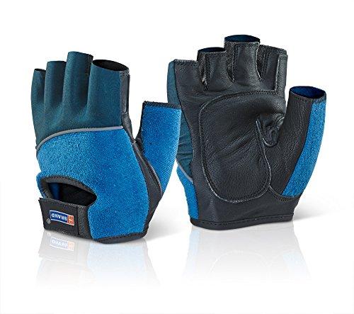 Fingerlose Gel-Handschuhe, R/W/B, L