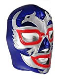 DOS CARAS Adult Lucha Libre Wrestling Mask (pro-fit) Costume Wear - Blue/Grey