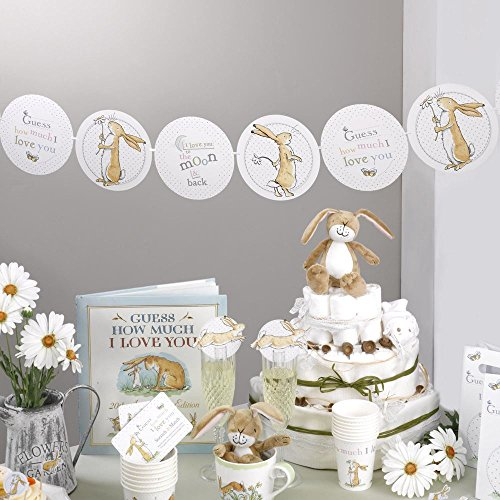 Neviti Guess How Much I Love You Baby Shower Paper Bunting ()