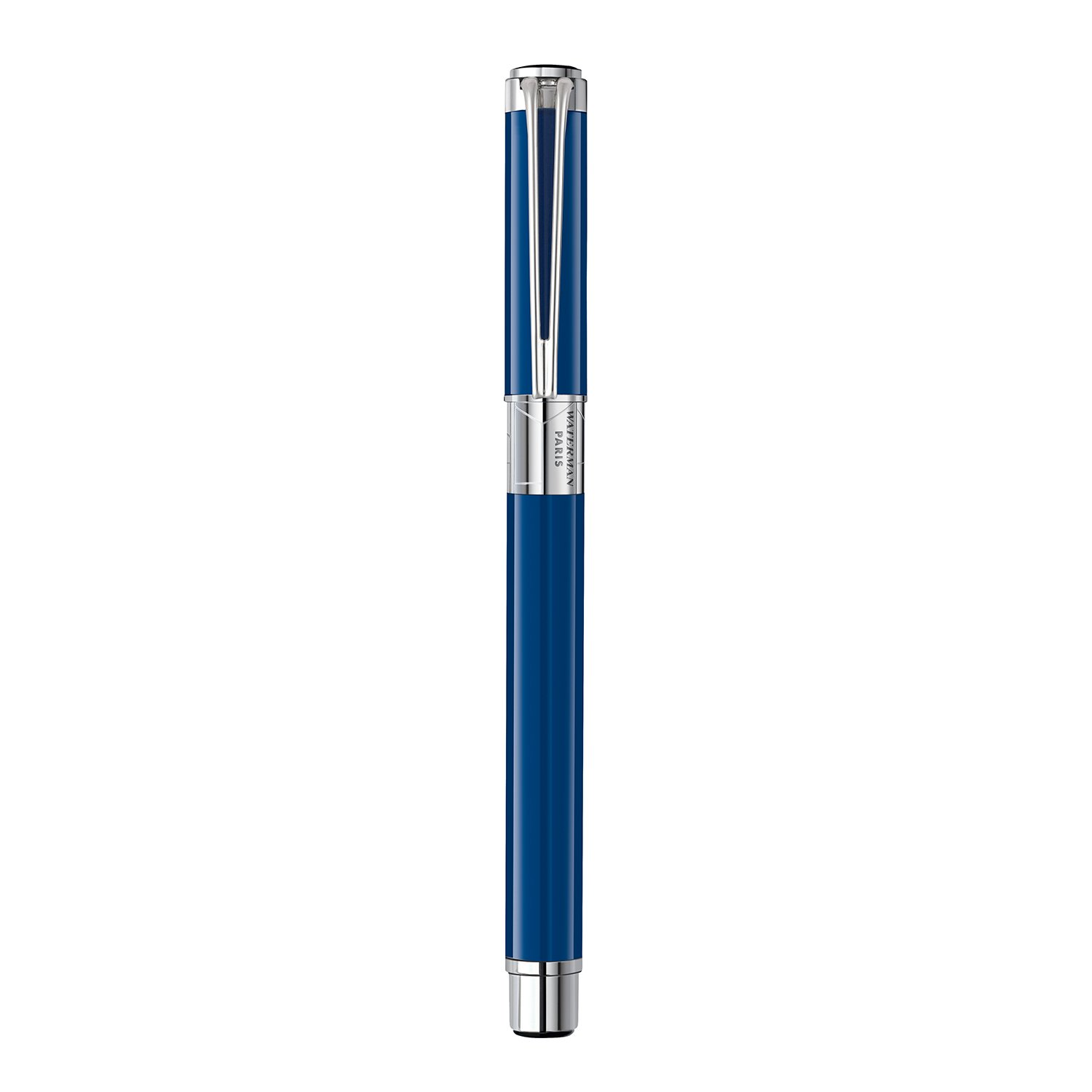 Waterman Perspective Rollerball Pen, Gloss Blue with Chrome Trim, Fine Point with Black Ink Cartridge, Gift Box by Waterman (Image #4)