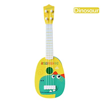 Beatie Juguete de Guitarra Ukelele Musical para Niños, Juguete de Guitarra, Simulador de Dibujos Animados para niños Instrumento Musical Ukulele Juguete: ...