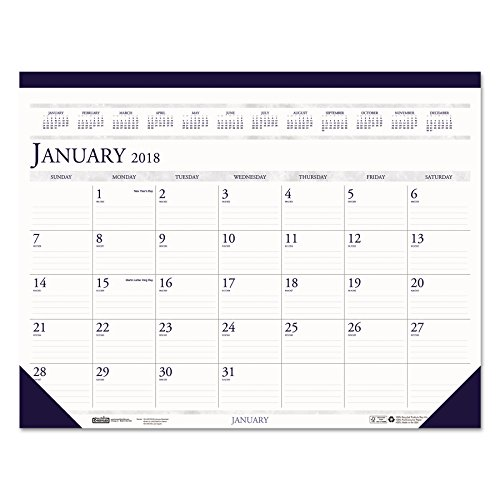 2011 Desk Pad Calendars - House of Doolittle Desk Pad Calendar 12 Months January 2011 to December 2018, 22 x 17 Inch, Leatherette Strip at the Top, Recycled (HOD150HD)
