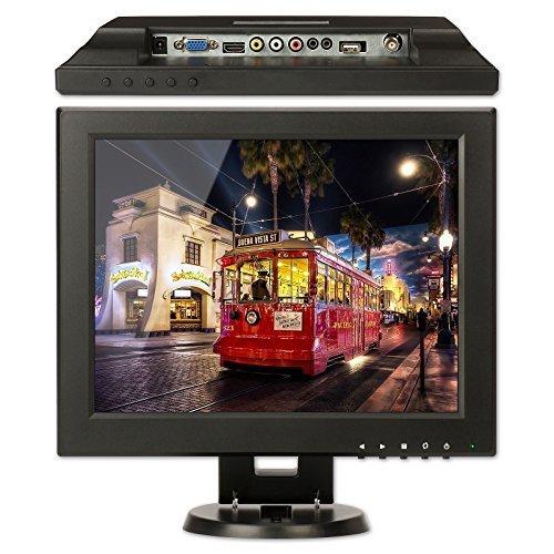"""CCTV Monitor, BNC, ZOTER 12"""" inch HDMI Portable LCD Mini Scr"""