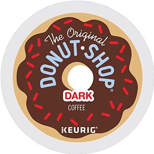 The Original Donut Shop Dark Keurig Single-Serve K-Cup Pods, Dark Roast Coffee, 72 Count (6 Boxes of 12 Pods)