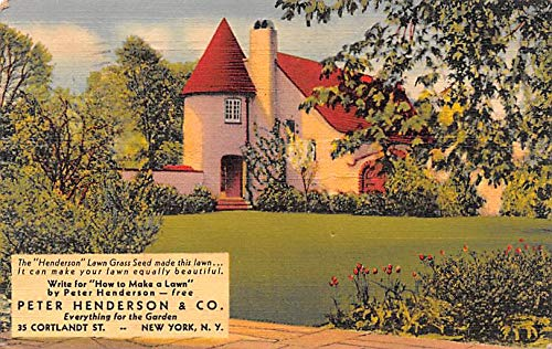 Advertising Post Card Peter Henderson & Co, Lawn Grass Seed 35 Cortland St, New York, NY USA 1938