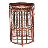 """Old Dutch 614BC Russian River Wine Bottle Rack, 20.5"""" x 33.5"""", Antique Copper and Rosewood"""