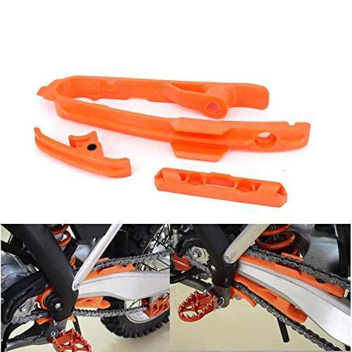 - Plastics Chain Guide Swing arm Slider Brake Hose Clamp for KTM SX SXF 125 150 200 250 350 450 525 2011-2015 Dirt Bike Motorcycle