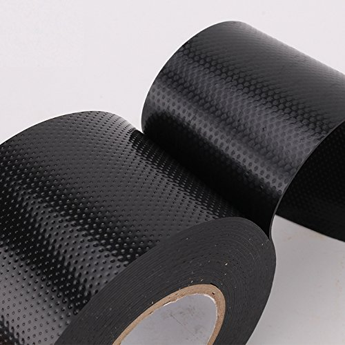 Lysignal Waterproof Self-Fusing Silicone Rubber Tape Electrical Tape for Coax Connectors/Coaxial Cable/Antenna/Emergency Repair, Black (50mm)