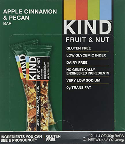 Kind Apple Cinnamon and Pecan Bar, 1.4 Ounce - 12 per case.