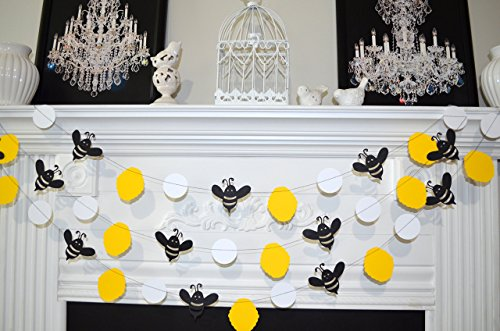 Bumble bee garland, Mommy to Bee, Bumble Bee Baby Shower Decorations , Bumble Bee Birthday Decor, Bumble Bee Nursery decor, Bee (Bumble Bee Baby Shower Decorations)