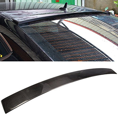 Trunk Spoiler Fits 2011-2014 MB Benz C-Class C204 Coupe 2Dr | Factory Style Rear Roof Spoiler Wing Carbon Fiber CF Tail Deck Lid Bodykit by IKON MOTORSPORTS | ?2012 2013 ()